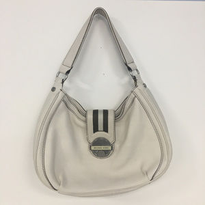 Michael Kors White Ivory Leather Shoulder Bag